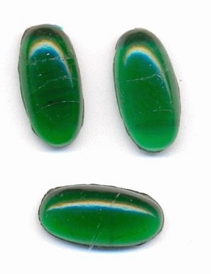 14x7mm Transparent Green Oval Stone