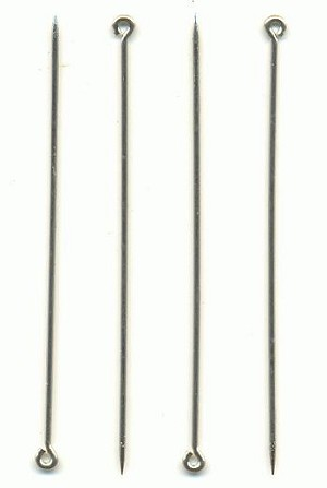 2 1/2'' 19G Nickel Silver Coil Pin