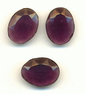 15x11 Transparent Amethyst Oval Stone