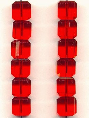 8mm Light Siam Ruby Chinese Crystal Cube
