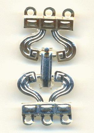 28x13mm SP Clasp 3 Rings