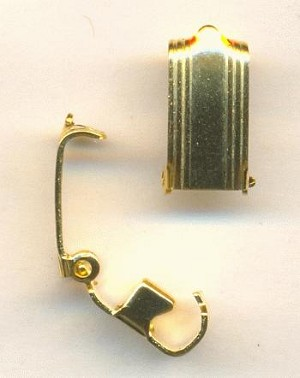 12x6.5mm Gold Plate Fold Over Clasps