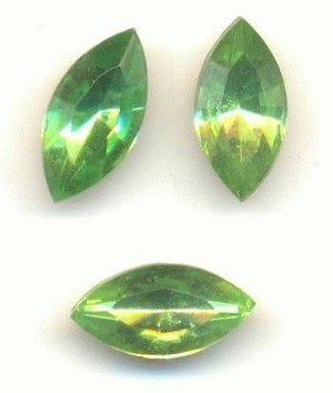 10x5mm Mixed Peridot Navette RS