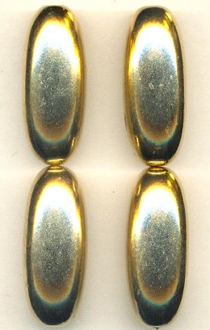 40x16mm Gold Metalized Bead