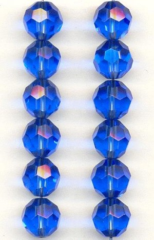 10mm Sapphire Chinese Crystal