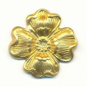 19mm Stamped Brass Flowers