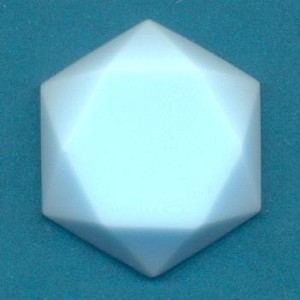 27x24mm Pale Blue Hexagon