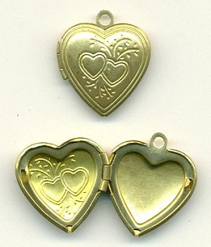 22x20mm Brass Heart Locket