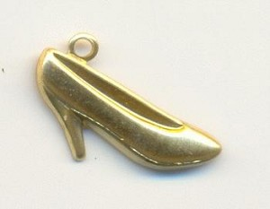 11x18mm Stamped Shoe Charms