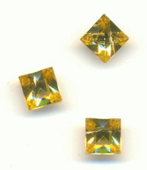4mm Light Topaz Swarovski Square RS