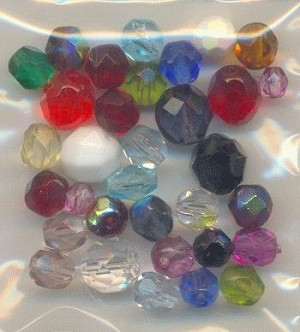 Mixed Bag Faceted Glass Beads