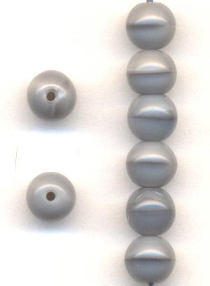5mm Czech Gray Glass Beads