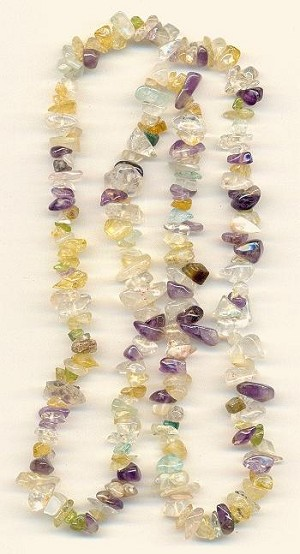22'' Mixed Semi-Precious Chip Beads