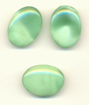 25x18mm Lt Green Oval Moonstone