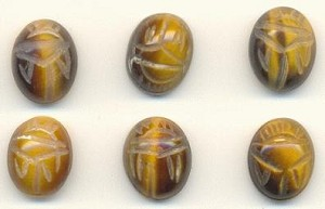 10x8mm Tiger Eye Scarab