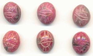 10x8mm Rhodonite Scarab