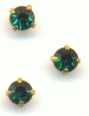 2.5mm Emerald RS In Setting