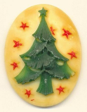 40x30mm Christmas Tree Cameo
