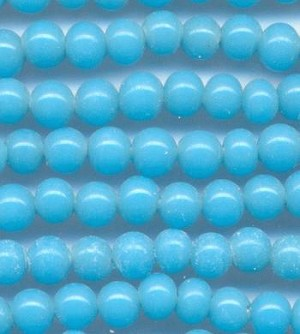 44'' Strand 4mm Turquoise Glass Beads