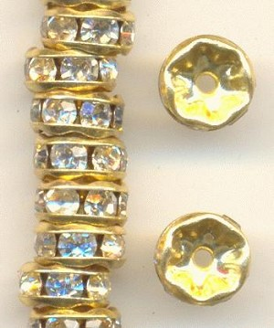 6.5x3mm GP Crystal RS Rondelles