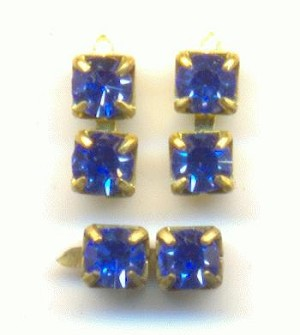 1.8mm Two Stone Sapphire Chain Parts