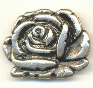 39x35 AS Metalized Rose Bead/Pendant L