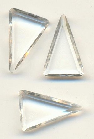 16x10mm Trans. Clear Triangle