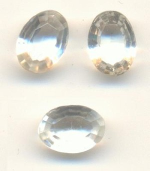 7x5mm TTC Transparent Clear Oval