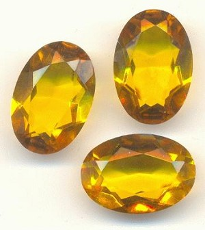 16x11 Mixed Transparent Topaz Oval Stone