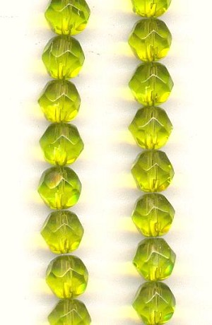 8mm Faceted Olive Beads