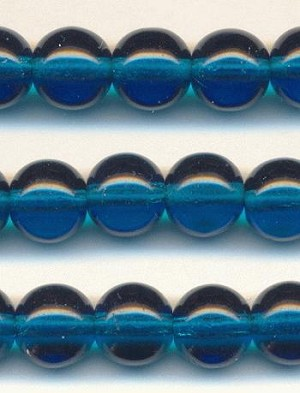 8mm Smooth Round Capri Blue Beads
