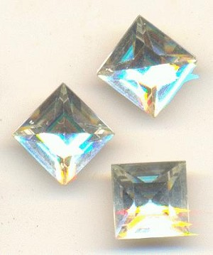 8mm Swarovski Clear/Crystal Square RS