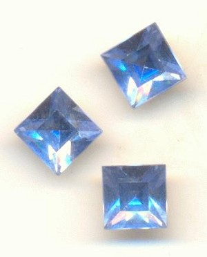 6mm Swarovski Light Sapphire Square RS