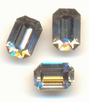 6x4mm Swarovski Black Diamond Octagons