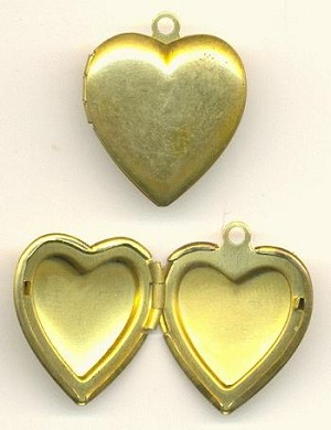 25x20mm Brass Heart Locket