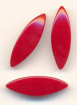 21x6mm Red Lucite Navette