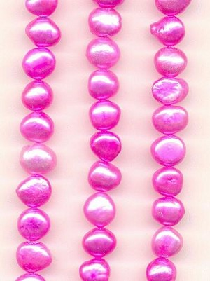 7-8mm Pink/Purple Fresh Water Pearls.