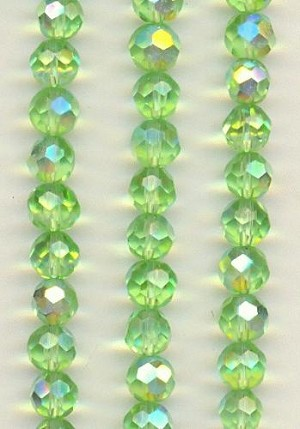 6mm Faceted Peridot AB