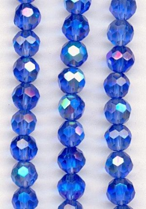 6mm Faceted Blue AB