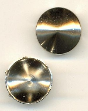 14.5mm Silver Cone Shaped Spots