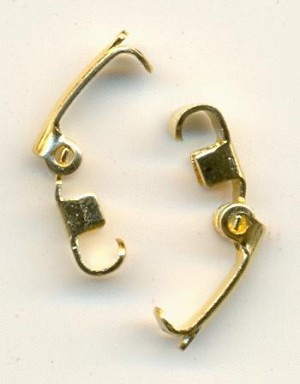 10x3mm GP Fold Over Clasps