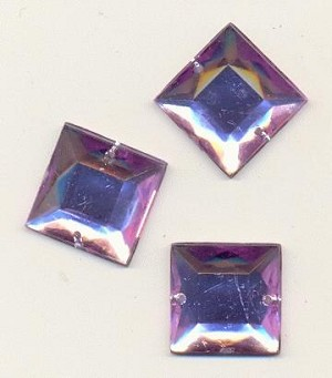 16mm Lavender Square Acrylic Sew On RS