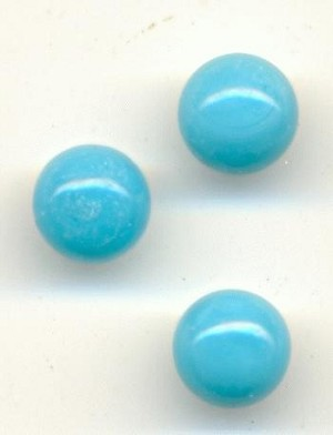 5.3mm Turquoise 1/2 Drilled Beads