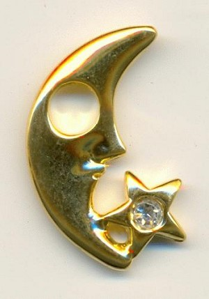 26x15mm GP Moon and Star Charm Right
