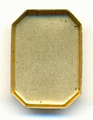 17x12mm Octagon Flat Back Setting