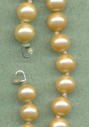 12'' 6mm Off-White Glass Pearl Strands
