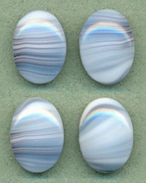 18x13mm White, Brown and Blue
