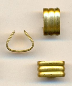 11.7x6.9mm Corragated Brass Connectors