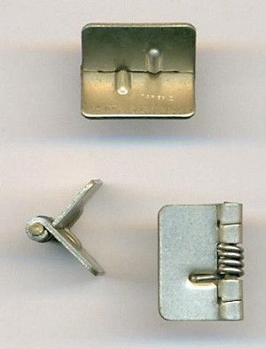 5/8'' (15mm) Silver Spring Hinges