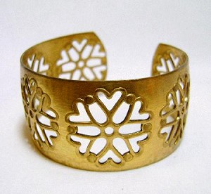 1 1/8'' Brass Cuff With Cut Out